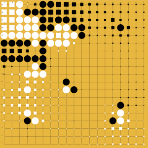 territory evaluation in game of go app